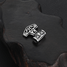 Stainless Steel Viking Thor Hammer Pendant Hole 4mm for Necklace DIY Accessories Findings Jewelry Making Men Charm Supplies