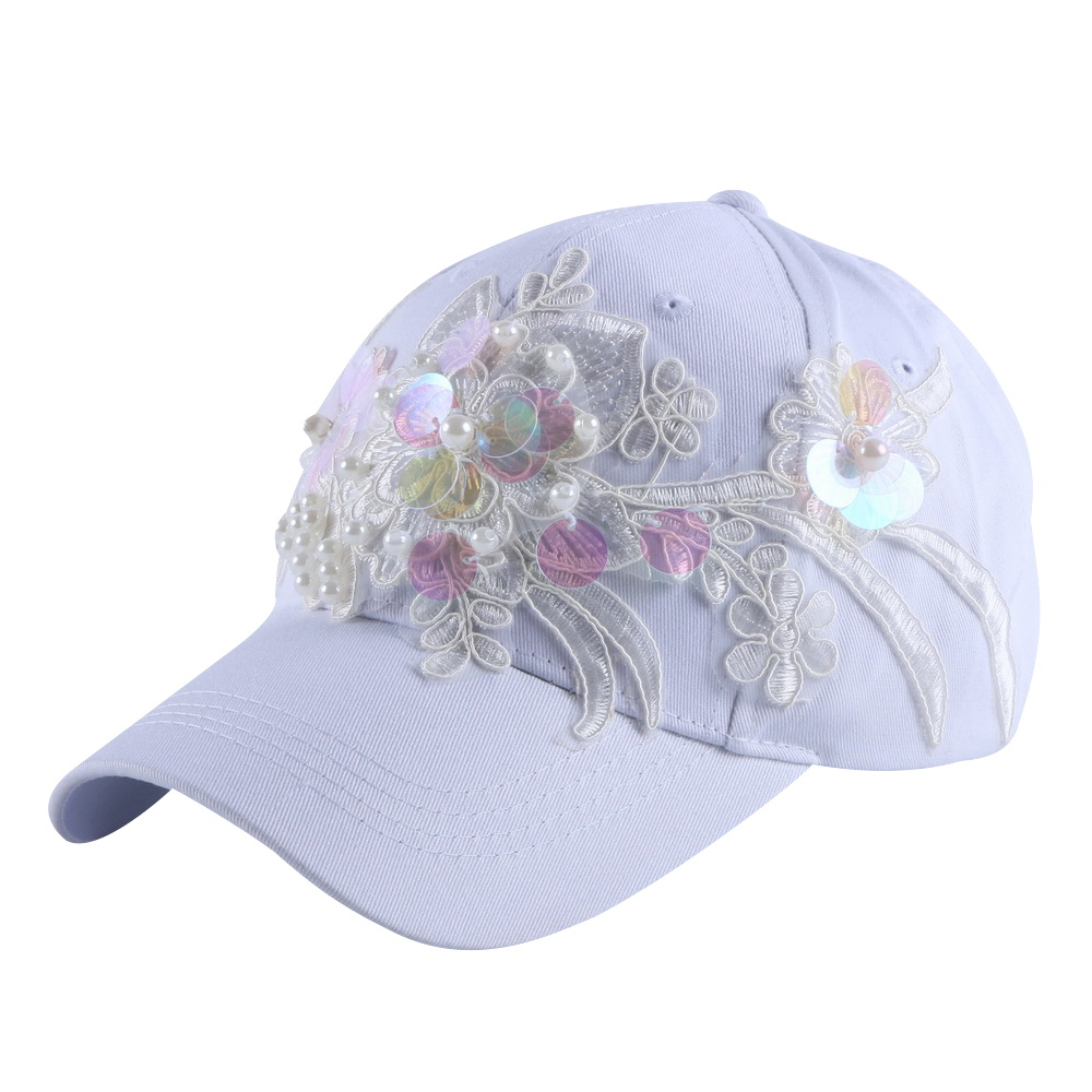 Girl Women Fashion Baseball Cap hat Custom Design Fuchsia Pink White Denim Hip hop Hats for Woman Summer caps