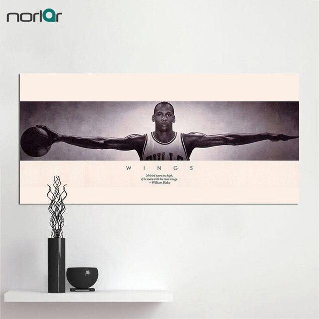 Canvas Print Michael Jordan Wings Basketball Sports Poster Vintage ...