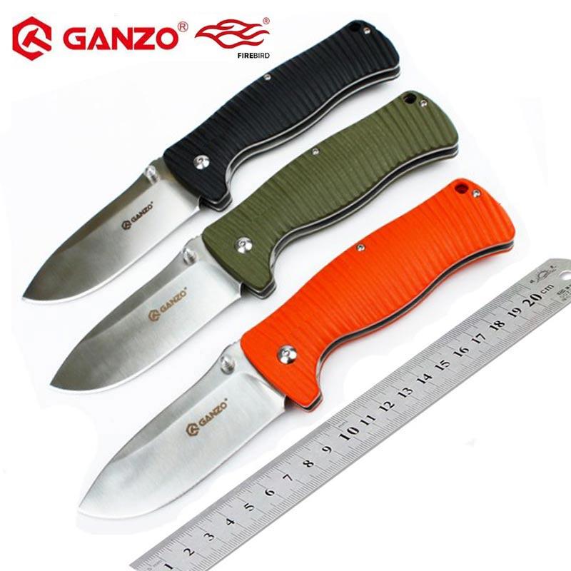 Ganzo de G720 Firebird F720 58-60HRC G10 mango plegable cuchillo de supervivencia al aire libre Camping caza Herramienta de bolsillo cuchillo táctico EDC herramienta