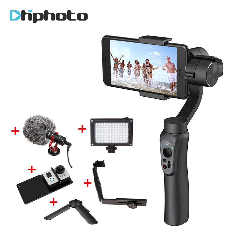 Zhiyun Smooth Q Handheld 3-Axis Gimbal Stabilizer built-in Battery for Gopro 5 4 3 Feiyu for iPhone 7 Plus 6s Samsung smartphone mx3 battery 3 battery m351 m355 phone b030 original built in battery