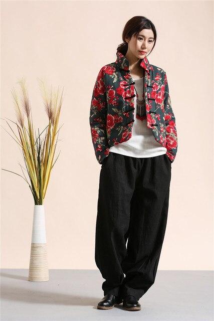 Китайская Народная стиль Зима WomenJackets Clothiing Вскользь Уменьшают Пальто Женщин хлопка белье Пиджаки Новое Прибытие Короткая Куртка