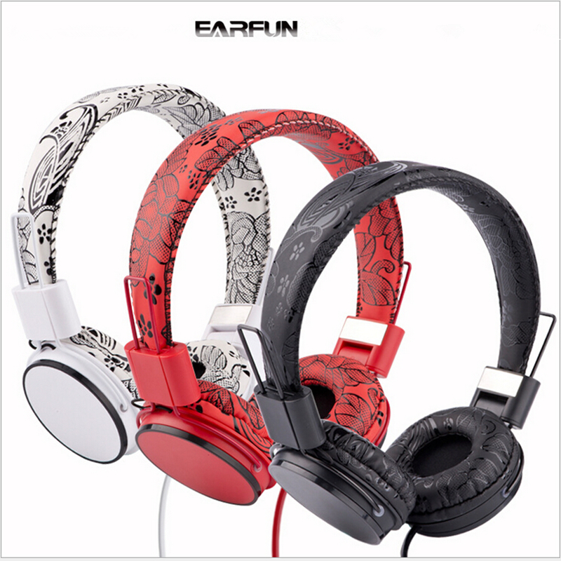 EARFUN E05B Foldable High Fidelity Surround Sound Stereo Headphone Headset With Mic MP3 Phone PC Earphone 100% Box Fast Shipping earfun brand big headphones with mic