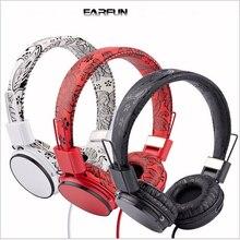 EARFUN E05B Foldable High Fidelity Surround Sound Stereo Headphone Headset With Mic MP3 Phone PC Earphone 100% Box Fast Shipping