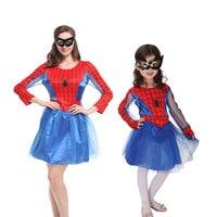 Umorden Purim Carnival Halloween Costumes Spider Man Costume Family Spiderman Cosplay Fantasia Dress Disfraces for Women Girls