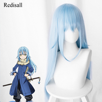 That Time I Got Reincarnated as a Slime Rimuru Tempest Blue Wig Synthetic Hair Cosplay Halloween Hair for Adult