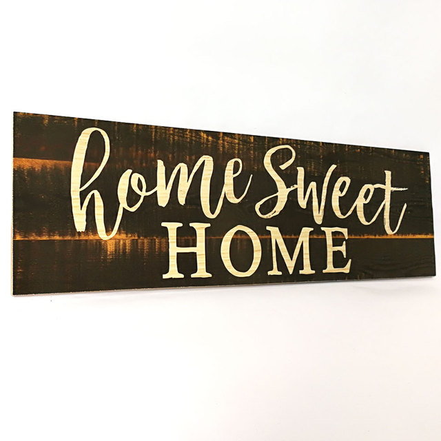 Farmhouse Style Sign Wood Plaques Rustic Wood Sign Cutout Word Decor Simple Home Sweet Home Decorative Accessories