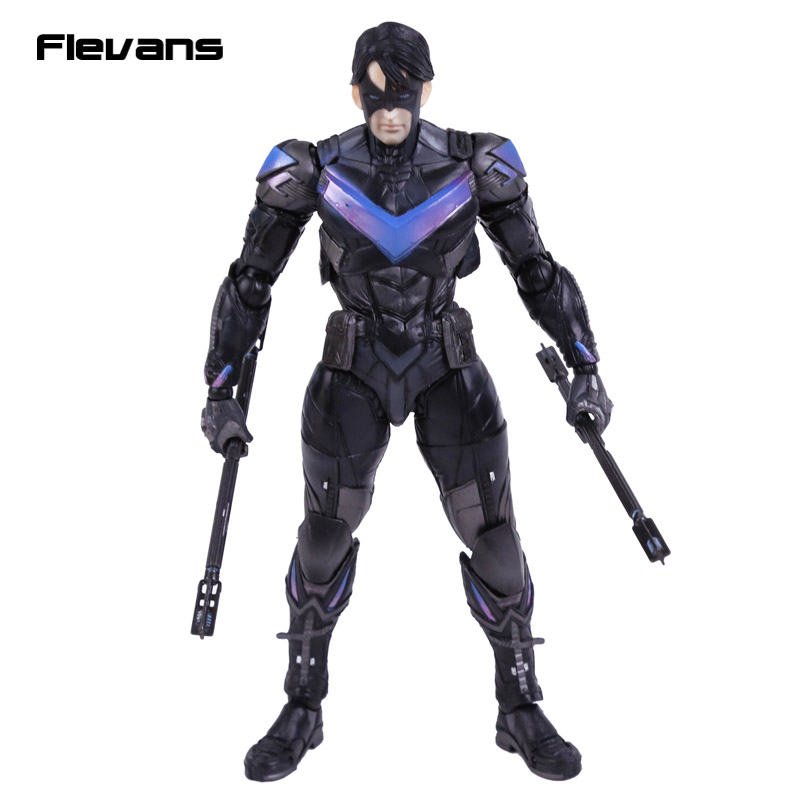 Playarts KAI Batman Arkham Knight NO.6 NIGHTWING PVC Action Figure Collectible Model Toy playarts kai batman arkham knight batman blue limited ver brinquedos pvc action figure collectible model doll kids toys 28cm