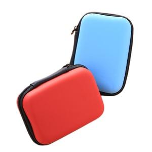 Image 5 - Mini fermeture éclair dur casque étui EVA cuir écouteur sac de protection Usb câble organisateur Portable écouteurs poche boîte