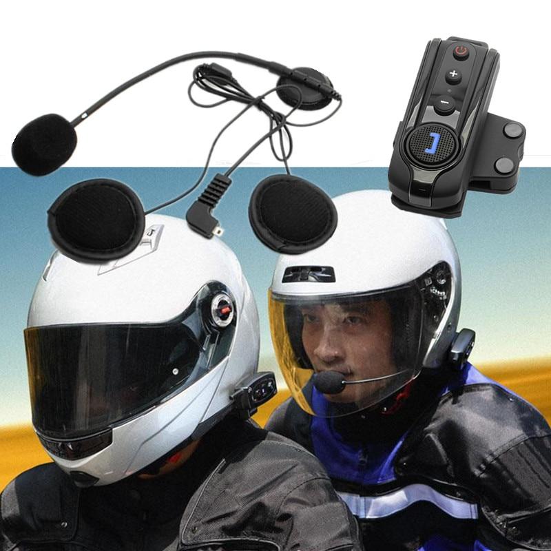 1000M Water Resistant Helmet Intercom Motorcycle Headset Intercom Automatic Bluetooth Handfree Intercomunicador With FM function new 800m fm function bluetooth motorcycle snowmobile helmet intercom headset for phone gps mp3 intercomunicador motocicleta