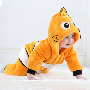 Image 4 - Anime Baby Nemo Clownfish Kigurumi piżama pajacyk dla noworodka Animal Onesie przebranie na karnawał Onepieces strój kombinezon zimowy