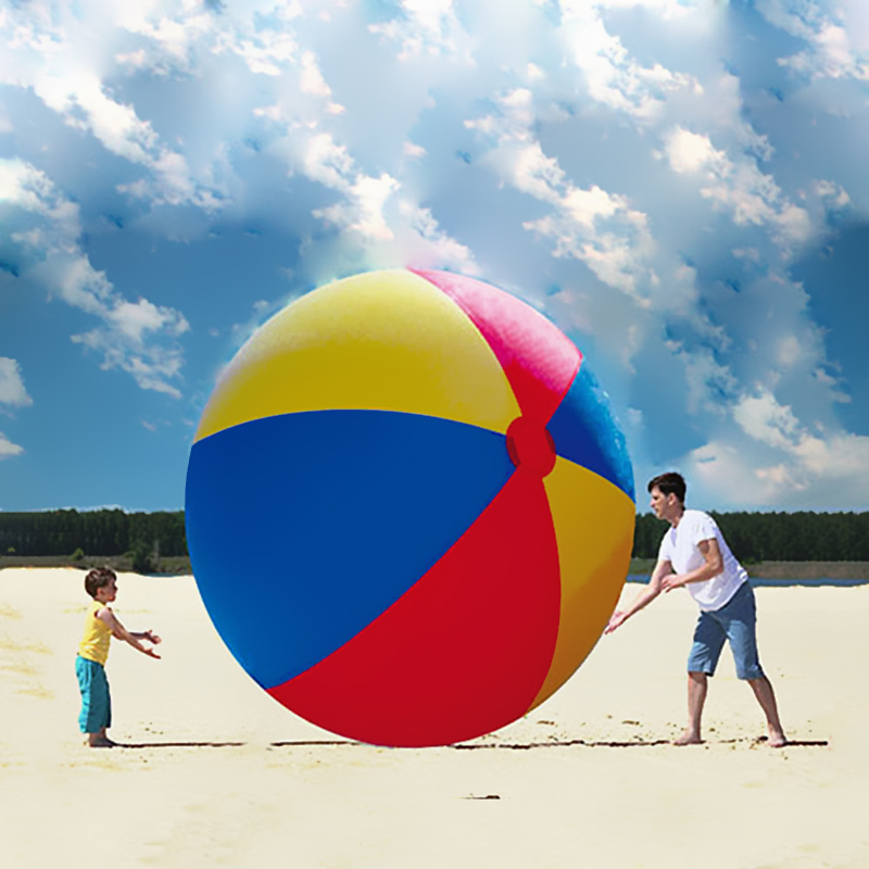 Giant 3M Inflatable Colorful Toys Ball Inflated Beach Balls Outdoor Fun Sport Toys Water Toys for Swimming Party Game Props Gift inflatable water spoon outdoor game water ball summer water spray beach ball lawn playing ball children s toy ball
