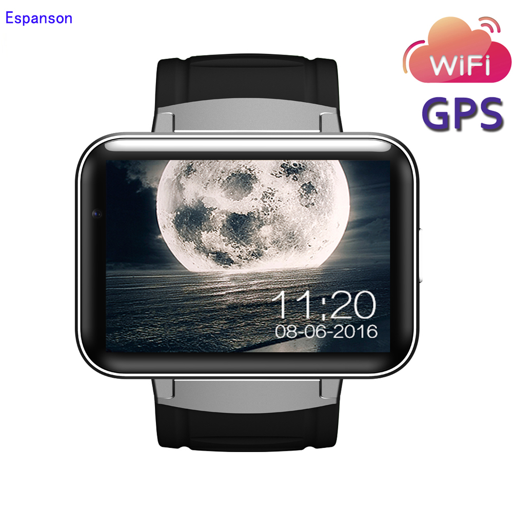 Espanson Dm98 Smart Watch 3G Android 5.1 WiFi GPS 1.2GHz Bluetooth 4.0 Sport Wristwatch Phone Dial Call HD Camera Clock Fitness gps навигатор lexand sa5 hd
