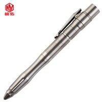 Titanium Alloy Multi function LED Tactical Pen EDC Outdoor Pocket Tool Flashlight Self defense Pen Tungsten Steel Window Breaker