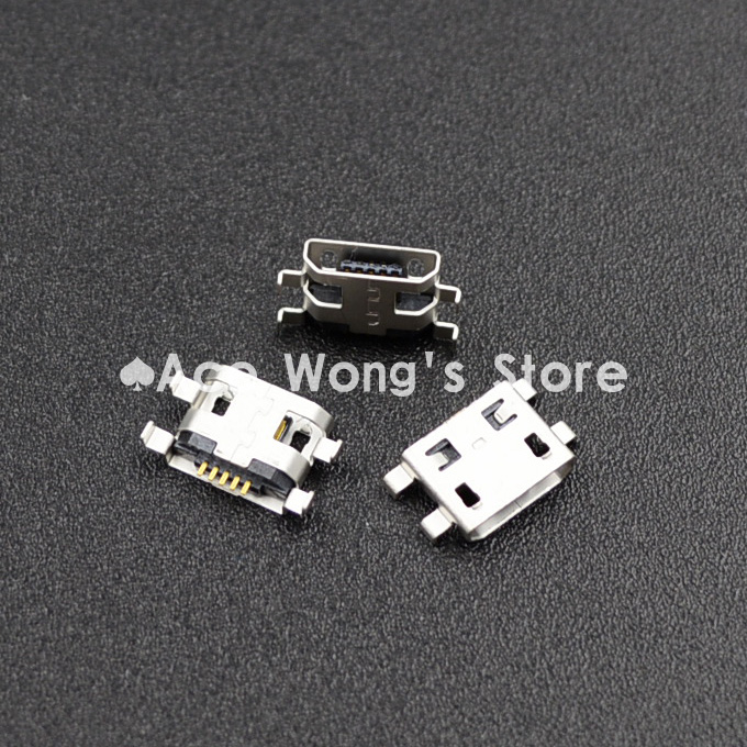 10pcs Micro USB 5pin B Type Female Connector Flat Mouth Jack 0.8 Connector For Mobile Phone Charging Socket  (USB-4)