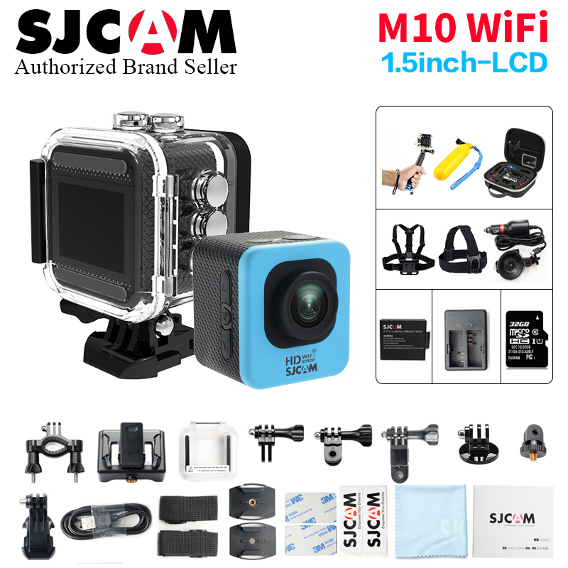 Original SJCAM M10 & M0 WIFI 1.5 LCD Full HD Mini Action Camera 30M Waterproof Camera 1080P Sport DV Car Dvr mini sj 4000 wifi