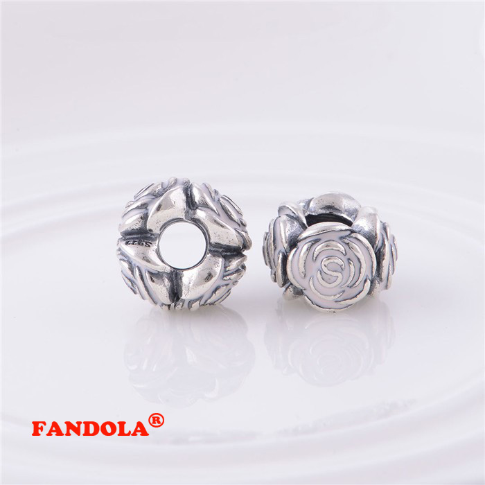 6e7f7bb81 Fits Pandora Charms Bracelet 925 Sterling Silver Beads Rose Garden with Pink  Enamel Charm Women DIY Jewelry Making LW364-in Beads from Jewelry &  Accessories ...