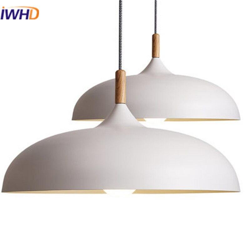 IWHD americký styl železo moderní závěsné světlo lampy LED jednoduché kreativní černé závěsné svítidlo pro domácí restauraci osvětlení ložnice