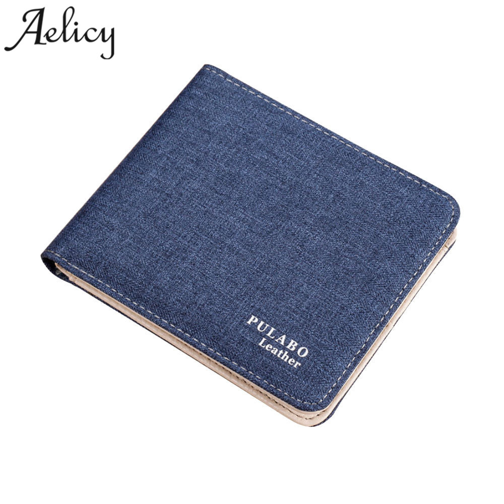 Retro Man Canvas Wallets Male Purse Card Holders Small Zipper Wallet For Credit Cards