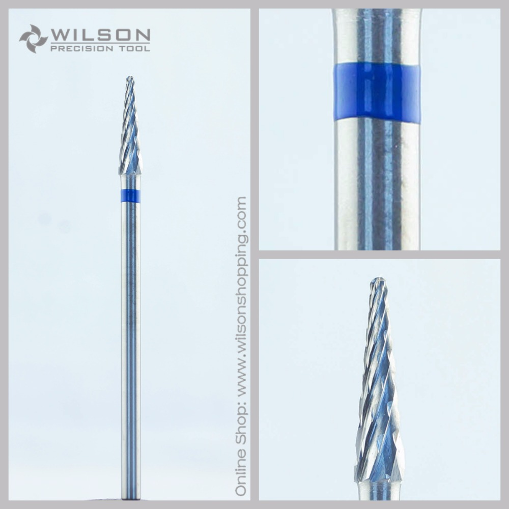 Cross Cut - Standard(5000328) - ISO 190 - Tungsten Carbide Burs - WILSON Carbide Nail Drill Bit&Dental Burs volcano bit fastest remove acrylics or gels one directional for right hand use only wilson carbide nail drill bit