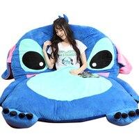 Fancytrader Anime Plush Stitch Sofa Bed Tatami Giant Soft Beanbag Carpet Mattress Sleeping Bag 3 Sizes Great Novelty Gift