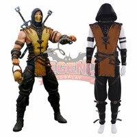 Game Mortal Kombat X Scorpion Hanzo Hasashi Cosplay adult costume full set custom made outfit