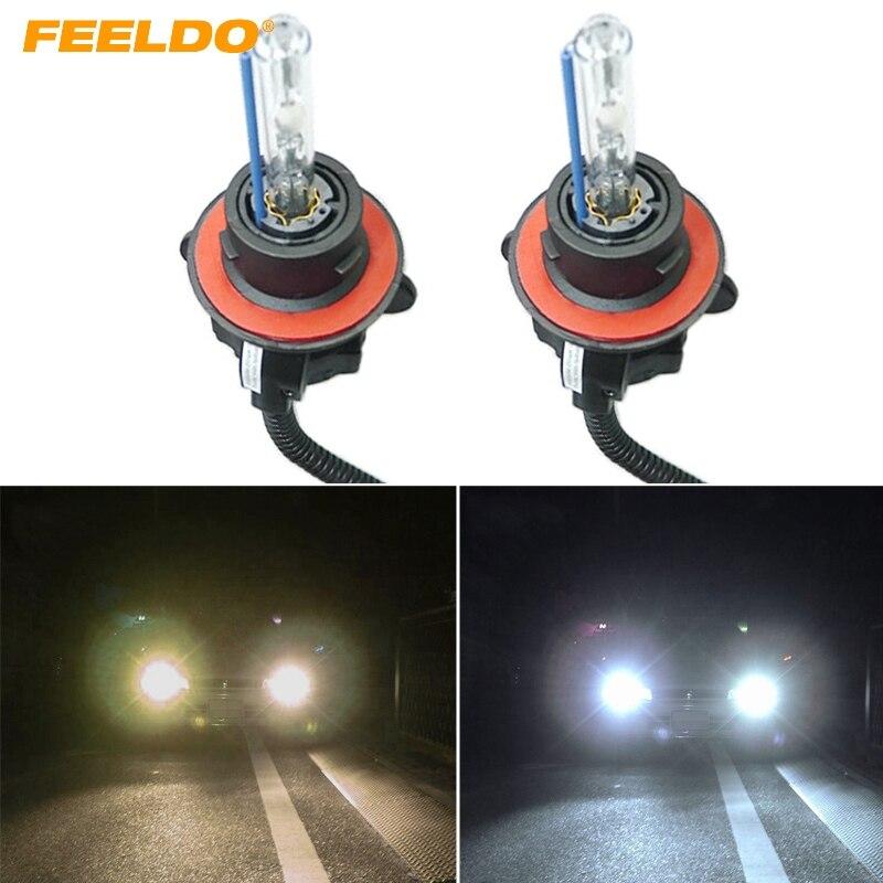 FEELDO 1Pair 35w Car Xenon Headlight Lamp H13/9008 Hi/Lo Bi-Xenon Replacement AC HID Bulbs 4300K, 6000K, 8000K,1000K,12000K