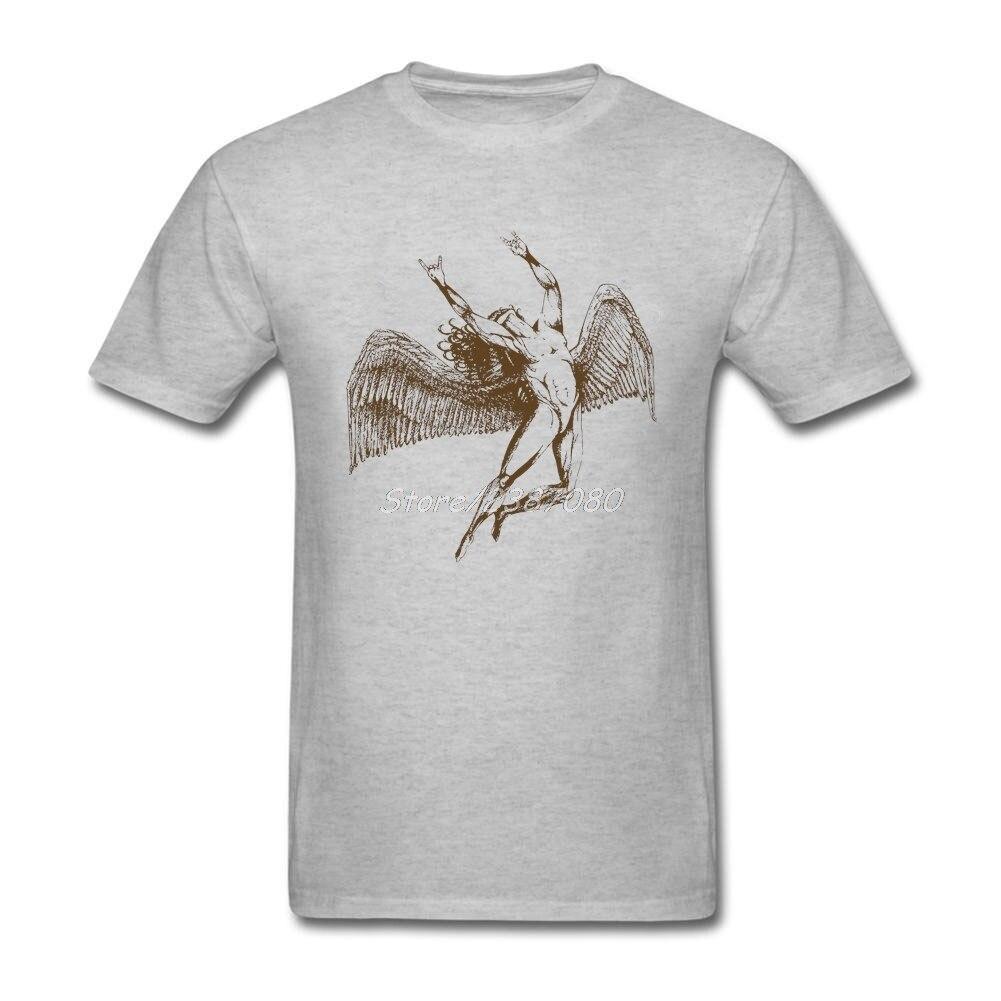 New Rock Led Zeppelin T Shirt Online Clothes For Men Cotton 3XL Short Sleeve Custom Harajuku Funny T Shirts