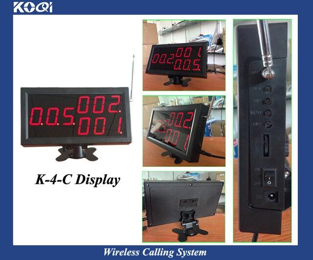 Sistema de zumbador de Atención al Cliente para restaurante inalámbrico con 1 PANTALLA, 1 reloj y 7 botones impermeables para muestras