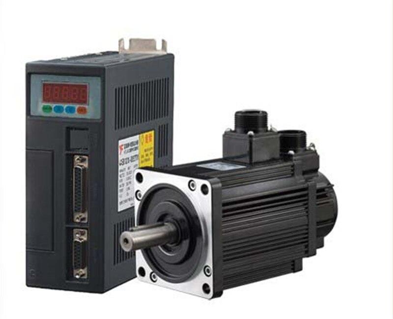 1.3kw 130mm CNC AC Servo Motor + Driver Kit NEMA52 5Nm 220 v 2500r/min 130ST-M05025 com Frete cabo de 2 Anos de Garantia