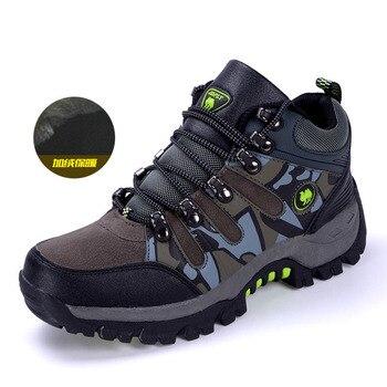 SENTA Nova chegada sapatos para caminhadas de inverno qualidade das mulheres dos homens de pelúcia quentes de trekking sapatos autênticos tênis antiderrapantes à prova d' água