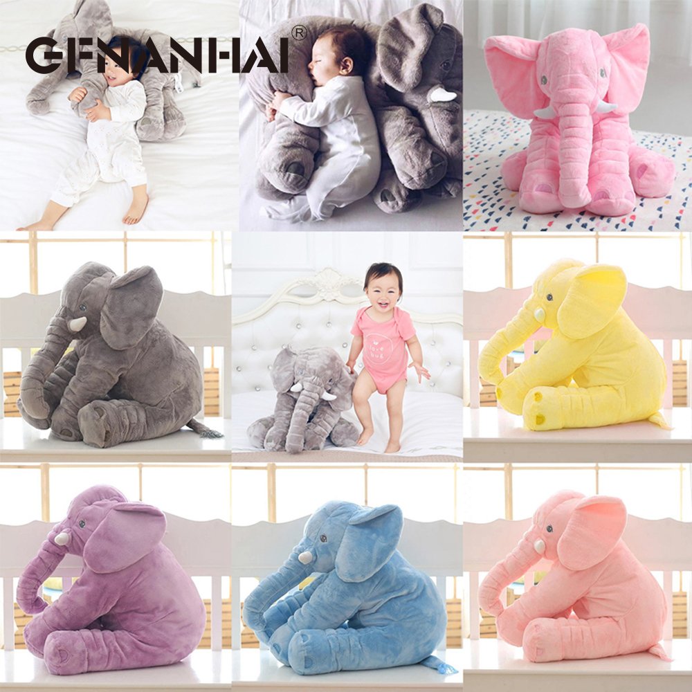 1pc 60cm cute elephant with Long Nose plush pillow stuffed soft animal toys baby sleeping appease birthday gift for kids girls цена