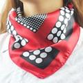ladie dot silk Scarves Women Square foulard femme Fashion 50*50cm satin Scarf ring Polyester brand collarf handkerchief 2017 s16