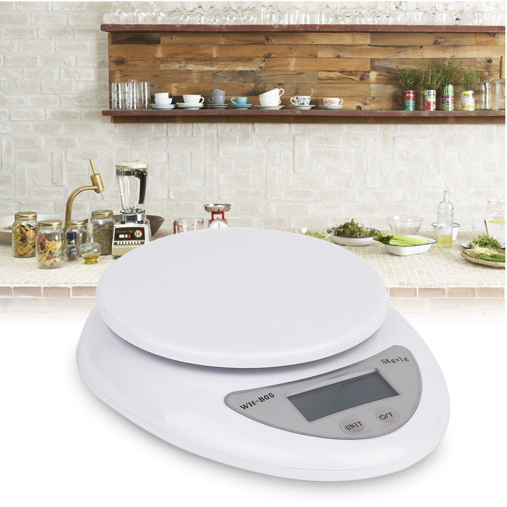 Hot 5kg 5000g/1g Digital Kitchen Scale Electronic Weighing Food Health Diet Measuring High Quality Precision Scale Balance Jewel