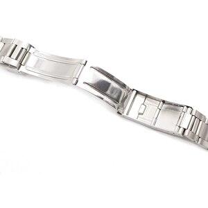 Image 5 - Rolamy Bracelet en acier inoxydable, 20mm, maillons creux, bout incurvé, déploiement, fermoir à verrouillage coulissant, brossé, pour Oyster, VINTAGE 70216 455B