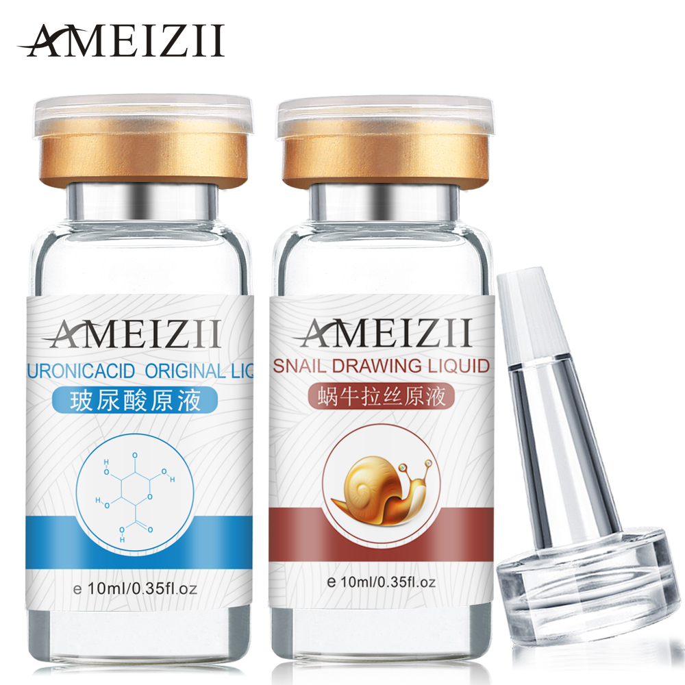 AMEIZII Snail Essence Hyaluronic Acid Serum Face Cream Moisturizing Skin Care Face Care Blackhead Acne Treatment Whitening