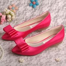 Wedopusแฟลตบัลเล่ต์แหลมนิ้วเท้าผู้หญิงรองเท้าสีชมพูกุหลาบ
