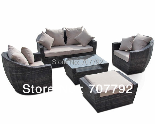 Tremendous Us 844 55 5 Off New Design Outdoor Furniture High Back Rattan Sofa Set In Garden Sofas From Furniture On Aliexpress Com Alibaba Group Caraccident5 Cool Chair Designs And Ideas Caraccident5Info