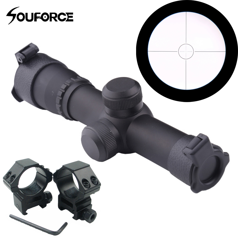 Tactical 4.5X20 Mil-Dot None-Illumination one-piece Scope With 1 Pair 20mm Rail Mount For Rifle Hunting купить