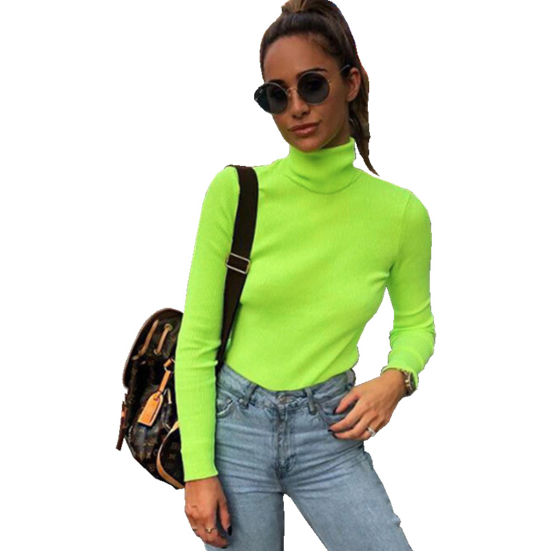 5ad9fc496ff Women Casual Cotton T Shirt Neon Green Long Sleeve Camis Streetwear Slim  Sexy Summer Top 2019 Strap Neon Shirt Tops Femme
