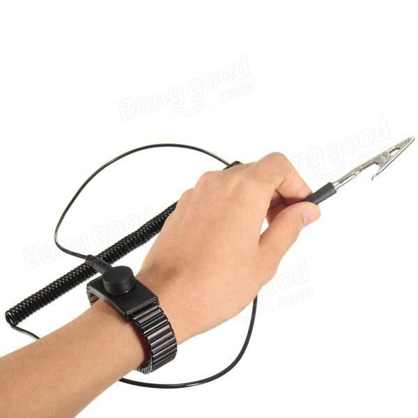 Metal Discharge Anti-Static Wrist Strap AntiStatic Wrist Band Anti Static Bracelet