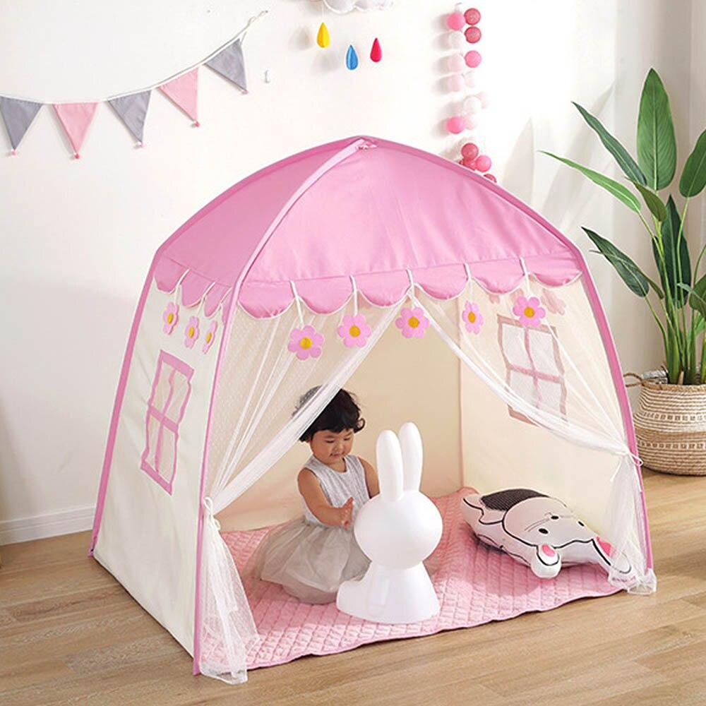 Portable bébé jouer maison Tulle enfant maison jeu jouer tente yourte Creative développer extérieur intérieur oxford tissu + maille jouets tente