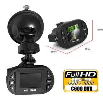 Mini DVR Camera 1.5 inch LCD screen Full HD 1920*1080P 12 IR LED Vehicle CAM Video Camera C600 Recorder Car DVR camera image