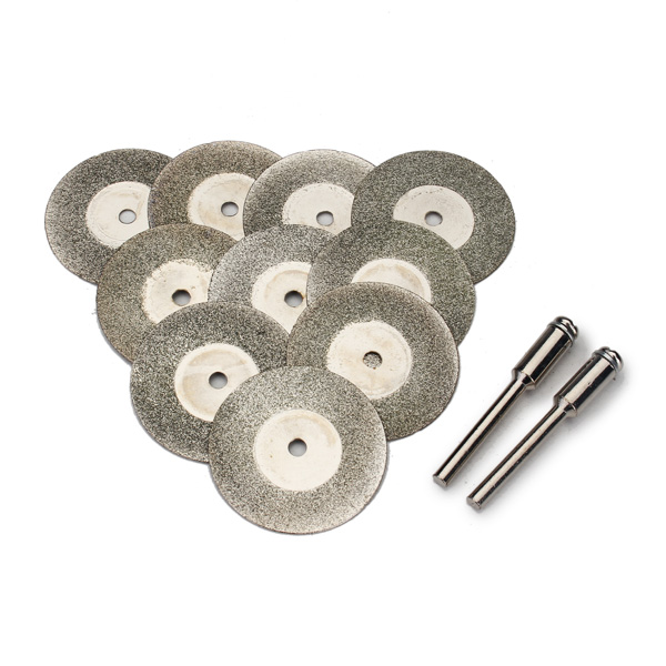 10pcs 30mm Diamond Cutting Discs Cut Off Blade Drill Bit for Dremel Rotary Tool Abrasive Disc Accessories disco de corte 5pc high quality emery diamond coated double side cutting discs cut off blade grinding disc for dremel rotary tools 1 mandrel