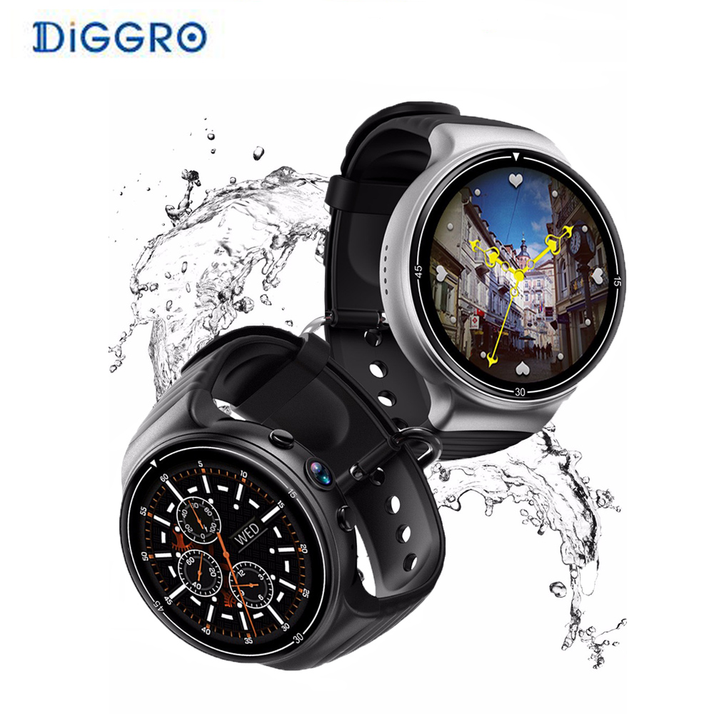 Diggro I8 4G Smart Watch Phone with camera Heart Rate Monitor Pedometer Fitness Tracker Smartwatch GPS WIFI HD sport watch dm2018 smart watch android gps sports 4g smartwatch phone 1 54 inch bluetooth heart rate tracker monitor pedometer pk kw88 dm98