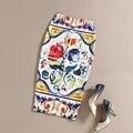 SexeMara Big Brand New Outono T Floral Vento Impressão Midi Saia Lápis de Cintura Alta Escritório Desgaste Do Trabalho Verão Hip Elástica