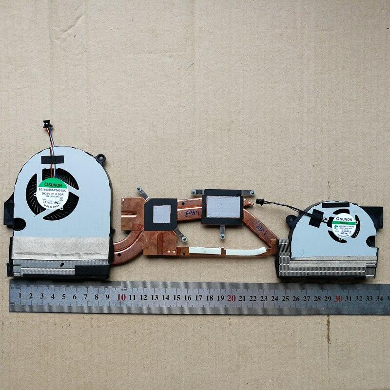 Новый ноутбук GPU + Процессор вентилятор охлаждения для acer V Nitro VN7-791 VN7-791G с радиатором L & R