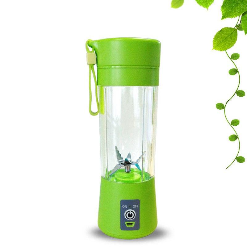 400 ml Tragbare Saft Mixer USB Entsafter Cup Multi-funktion Obst Mixer Sechs Klinge Mischen Maschine Smoothies Baby Lebensmittel dropshipping