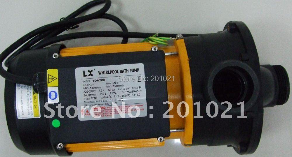 TDA200 220v 60HZ with 1.5KW/2.0HP hot tub pump & spa pump & Bathtub pump,Swim pool pump майка борцовка print bar народы севера