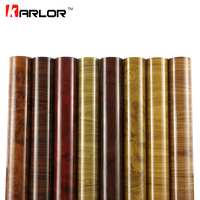 60cmx500cm Glossy Wood Grain Car Wrap Vinyl Film DIY Wood Grain Textured Furniture Decal Waterproof Self